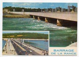 LA RICHARDAIS-1973--Barrage De La Rance-L'usine Marémotrice Au Remplissage Et La Chaussée Du Barrage--timbrée...à Saisir - Autres Communes