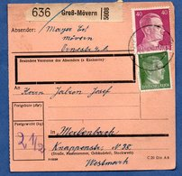 Colis Postal  /  Départ Gross Mörven  / 10-09-43 - Allemagne