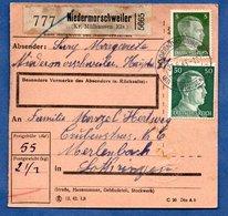 Colis Postal  /  Départ Niedermorschweiler  / 9-06-43 - Allemagne