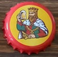Luxembourg Capsule Bière Beer Crown Cap Battin Fruitée Rouge Et Jaune - Bière