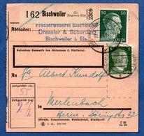 Colis Postal  /  Départ Bischweiler  / 8-06-43 - Allemagne