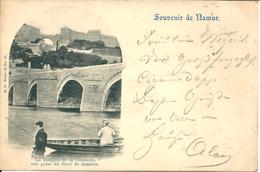 Namur - Le Donjon De La Citadelle Vue Prise Du Pont De Jambes - Namen