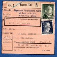 Colis Postal  /  Départ Haguenau / 31-05-43 - Allemagne