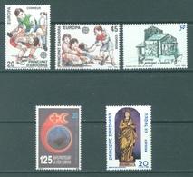 ANDORRA  - 1989 - MNH/**  - YEAR COMPLETE - Yv 199-203 -  Lot 19162 - Andorre Espagnol