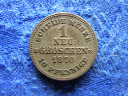 GERMANY SAXONY 1 GROSCHEN 1870, KM1221 - [ 1] …-1871 : Etats Allemands