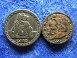 GERMANY NOTGELD AACHEN 25 PFENNING 1920 IRON, BONN 10 PFENNING 1920 IRON - [ 3] 1918-1933 : Republique De Weimar