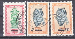 Ruanda Urundi Nr 173-175      Obliteré - Gestempeld ) Used   (o) - Ruanda-Urundi