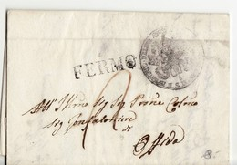 9295 01 PAPAL STATE COMUNITA DI S.M. PIETRO MORICO FERMO X OFFIDA - 1845 - WITH TEXT - Italien