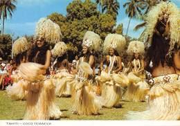 TAHITI - Groupe De Coco Temaeva Pendant Les Fêtes Du 14 Juillet - Danses Folkloriques Tahiciennes - Tahiti