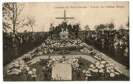 Cimetière De Rhées-Herstal - Tombe Des Soldats Belges - 2 Scans - Herstal
