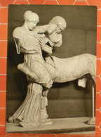Part Of Zeus Temple West Pediment Statua MUSEO OLYMPIE GRECIA CARTOLINA - Sculture