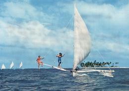 Polynésie Française - BORA-BORA - Pirogues à Voile Sur Le Lagon - French Polynesia