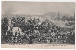 Die Attacke Der Kurassier Division De Bonnemains 8 Aug 1870 Woerth Vintage Military Postcard - Guerres - Autres