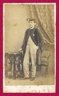 Photographie Ancienne - Cliché W. Nichols à Cambridge - Portrait D'un étudiant - Personnes Anonymes