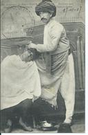 """CPA FRONT D'ORIENT SALONIQUE CACHET MILITAIRE """"Barbier Turc"""" - Grecia"""
