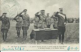 """CPA FRONT D'ORIENT SALONIQUE CACHET MILITAIRE """"Le Générail Sarrail Au Camp De Lembet"""" - Grecia"""