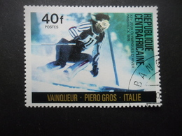 Centrafrique N°262 JEUX OLYMPIQUES D'INNSBRUCK 1976 Oblitéré - Winter 1976: Innsbruck