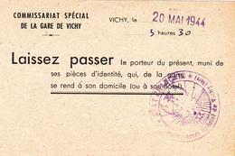 Laissez Passer Vichy 1944 - Documentos