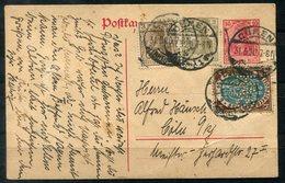 """4501 - D.R. - Ganzsache Mit Zusatzfrankatur Mi.Nr. 108 (diese Mit Perfin """"HAS"""") Und Andere - Briefe U. Dokumente"""