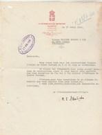 Lettre 15/4/1940 LA RESIDENCE DU SPORTING à MEGEVE Haute Savoie - France