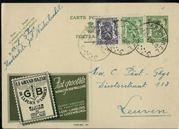 Publibel Obl. N° 294 Verte ( Le Grand Bazar  Luik - Verviers)  Obl. Nederbrakel  C C 1954 - Publibels