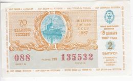 URSS , 1987 ,  Lottery Ticket , Used - Billets De Loterie