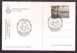 YN113  Italia,Italy 2000  Special Postmark Pumpkin Tortellini - Tortellini à La Citrouille - Alimentazione