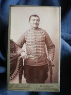 CDV Photo F. Miesienski à Avignon - Militaire Cavalier Du 11e Hussard CIRCA 1900-1910 L432 - War, Military