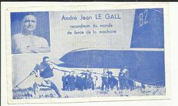 SPORT . ANDRE JEAN LE GALL . RECORDMANN DU MONDE DE FORCE DE LA MACHOIRE - Unclassified
