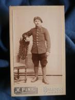 CDV Photo A. Fine à Briançon - Militaire Chasseur Du 159e RIA  Vers 1900-10 L432 - Guerre, Militaire
