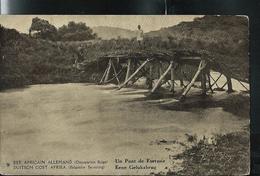 Est Africain Allemand (Occ. Belge)   Carte Ill. N° 11 Vue  9.  Un Pont De Fortune  (carte Neuve) - Ganzsachen