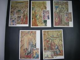 """BELG.1979 1932/35 & 1936 FDC-Maxicards  """" Millénaire De Bruxelles - Tapisseries/Millennium Van Brussel -tapijtweefkunst"""" - 1971-80"""