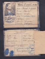 Gallargues (30) - Carte D' Identité Berard Femme Girard Blanche  établie En 1944 Et Recepisse - Gallargues-le-Montueux