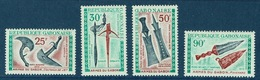 Gabon, Weapons Of Gabon, 1970,  MNH VF Airmail, Complete Set Of 4 - Gabon
