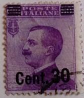 Italie Italy Italia 1924 Victor Emmanuel III Surchargé Overprinted Soprastampati Yvert 172 O Used Usato - 1900-44 Victor Emmanuel III.