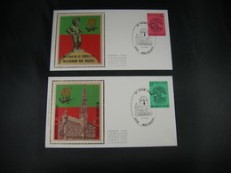 "BELG.1979 1925 & 1926 FDC's Zijde/soie (Houthalen) : "" BRUOCSELLA 979-1979 "" - FDC"