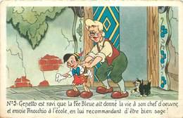 WALT DISNEY - Pinocchio, N°5.(carte Vendue En L'état). - Disney