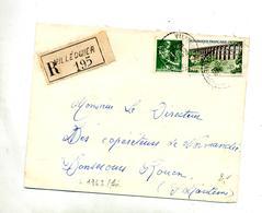 Lettre Recommandee Villequier Sur Viaduc - Marcophilie (Lettres)