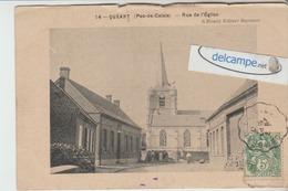 QUEANT : Rue De L'Eglise,animée. (décollée). édit Blondy. - France