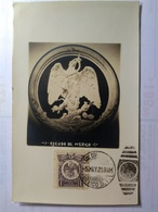 México Maximun Card One Of Earlier 1921 Shows Coat Of Arms With Snake Eagle AND Cactii Pmk At SUC Correos A - Mexiko