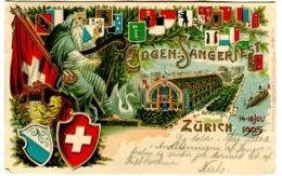 ZÜRICH - EIDGEN-SÄNGERFEST 1905 - PRÄGEKARTE - Carte En Relief Embossed Card 1905 - ZH Zürich