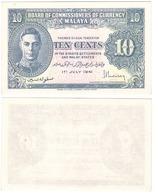 Malaya / JAPANESE Government - 10 Cents 1941 XF+ Lemberg-Zp - Billets