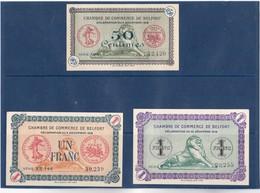 90 - BELFORT - LOT De 3 BILLETS Différents De 1918  Chambre De Commerce De BELFORT - 0,50cts , 1Frs Et 1Frs - BEL ETAT - Chambre De Commerce