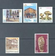 ANDORRA  - 1990 - MNH/**  - YEAR COMPLETE - Yv 204-208 -  Lot 19163 - Andorre Espagnol