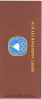 1981 Sporthilfe Germany Booklet Mnh ** Rowing Rudern - Just The Stamps 6*Michel 1094 = 7.2 Euros - [7] République Fédérale