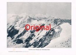 807 Deninger Panorama Ortler Ortlerhochjochhütte Kunstblatt 1901  !! - Documents Historiques