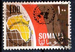 PIA - SOMALIA - 1966: 21° Anniversario Dell' ONU - Emblema E Carta Dell' Africa  - (Yv  53) - Somalie (1960-...)
