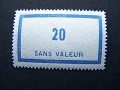 FICTIFS NEUF ** N°F 46 SANS CHARNIERE (FICTIF F46) - Phantomausgaben