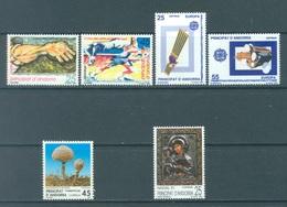ANDORRA  - 1991 - MNH/**  - YEAR COMPLETE - Yv 209-214 -  Lot 19164 - Andorre Espagnol