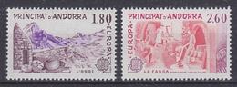 Europa Cept 1983 Andorra Fr 2v  ** Mnh (42138) - 1983